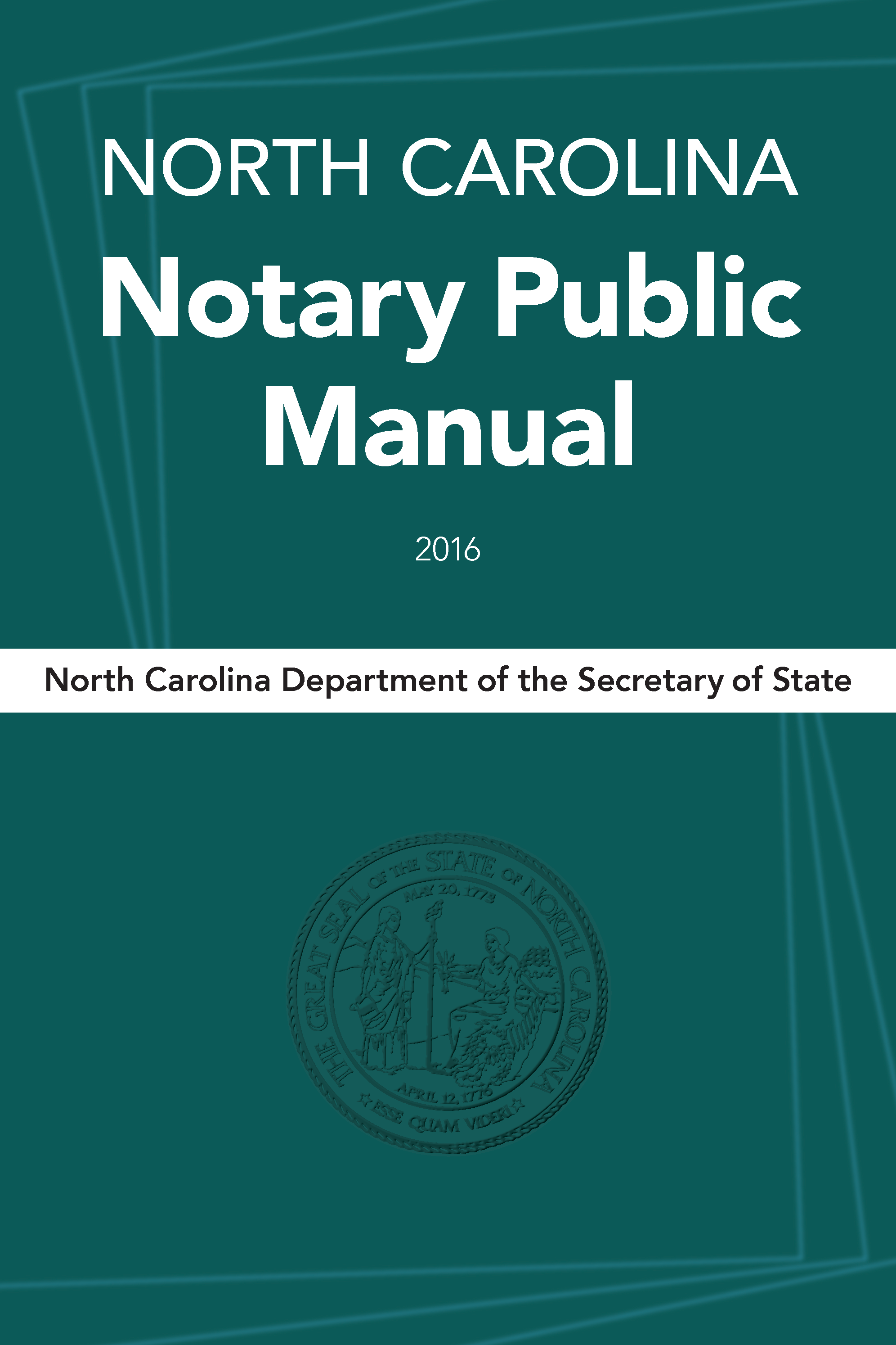 Purchase A North Carolina Notary Public Manual