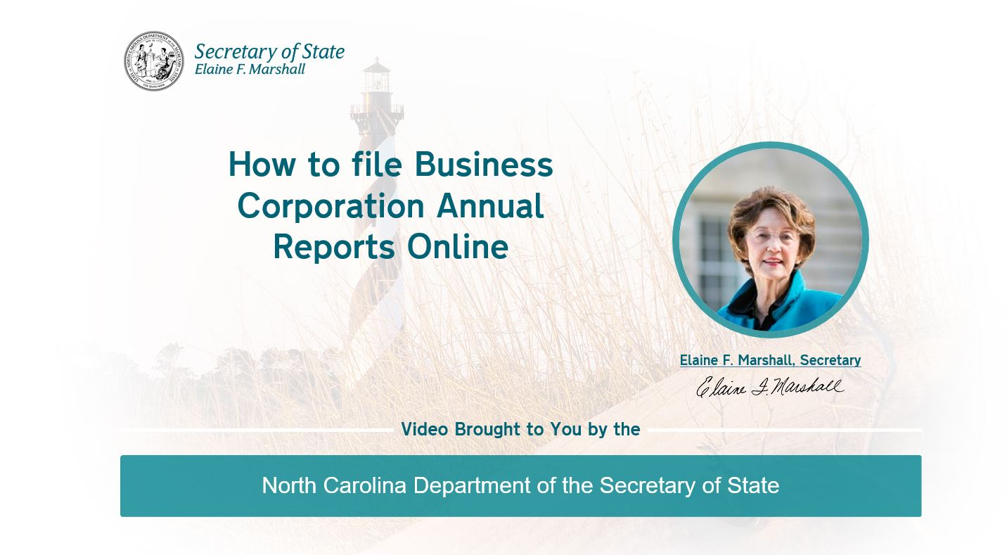 How to file a Business Corporation annual report online